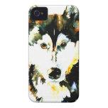 Caso del iPhone 4/4S del husky siberiano de la acu iPhone 4 Funda