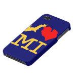 Caso del iPhone 4/4s del MI del ♥ I (corazón Michi iPhone 4/4S Carcasa