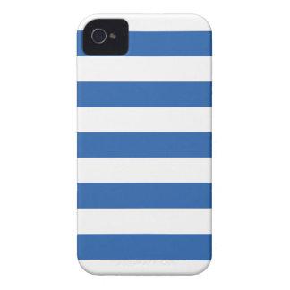 Caso del iPhone 4/4s del modelo de las rayas azule iPhone 4 Fundas