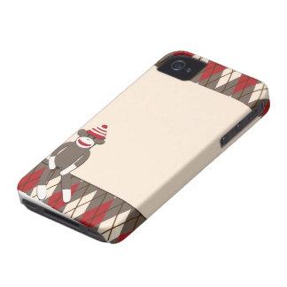 Caso del iPhone 4/4S del mono del calcetín de Case-Mate iPhone 4 Coberturas