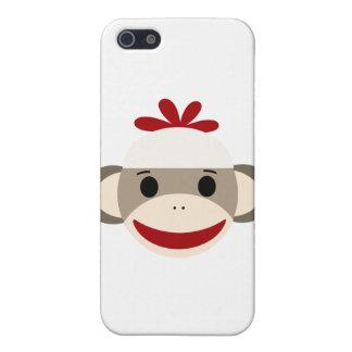 caso del iphone 4/4s del mono del calcetín iPhone 5 cobertura