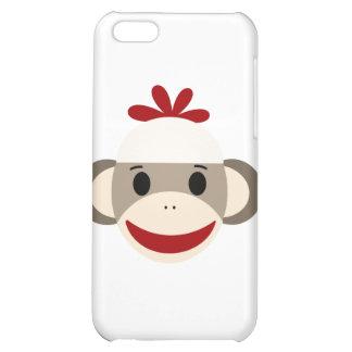 caso del iphone 4/4s del mono del calcetín