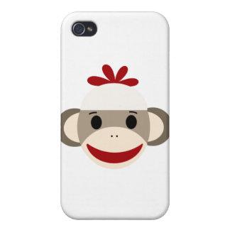 caso del iphone 4/4s del mono del calcetín iPhone 4 funda