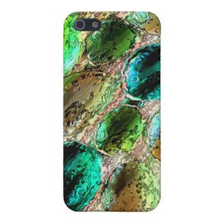 Caso del iPhone 4/4s del mosaico de la chuchería iPhone 5 Protectores