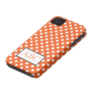 Caso del iPhone 4 4S del naranja y del blanco del iPhone 4 Coberturas