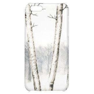 Caso del iPhone 4 4S del paisaje del invierno