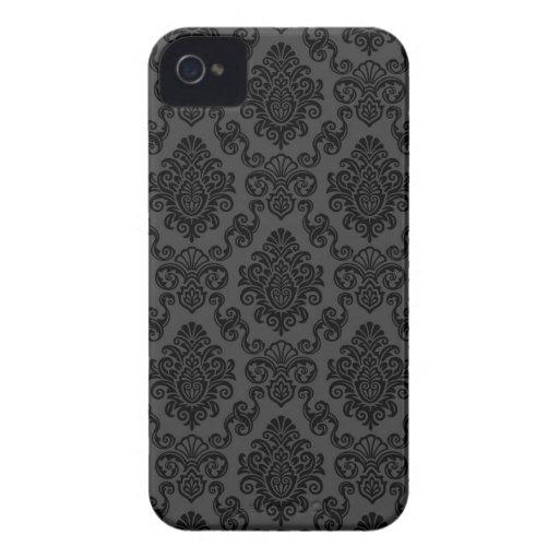 Caso del iPhone 4/4S del papel pintado del damasco iPhone 4 Case-Mate Carcasas