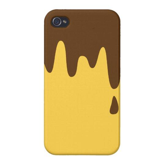 Caso del iPhone 4/4S del pudín iPhone 4 Carcasas
