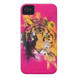 Caso del iPhone 4/4S del tigre de la pintada Case-Mate iPhone 4 Funda