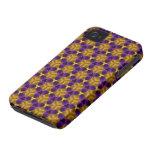 caso del iPhone 4/4S - púrpura y oro Triquetras iPhone 4 Cobertura