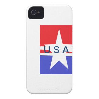 Caso del iPhone 4.4SS de la estrella y de la raya Carcasa Para iPhone 4 De Case-Mate