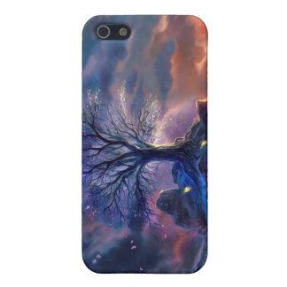 caso del iPhone 4 - árbol de Faeriefire iPhone 5 Fundas
