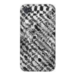 caso del iphone 4 - arte de Fractial - brillante iPhone 4/4S Carcasas