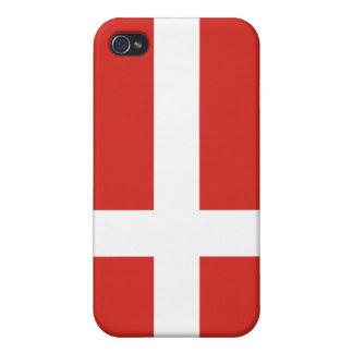 caso del iPhone 4 - bandera de Dinamarca iPhone 4 Cárcasas