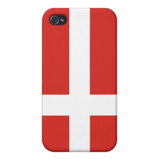 caso del iPhone 4 - bandera de Dinamarca iPhone 4 Fundas