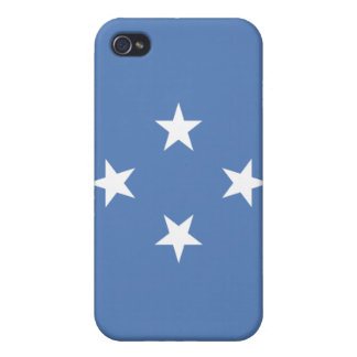 caso del iPhone 4 - bandera de Micronesia iPhone 4/4S Fundas