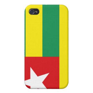 caso del iPhone 4 - bandera de Togo iPhone 4 Funda
