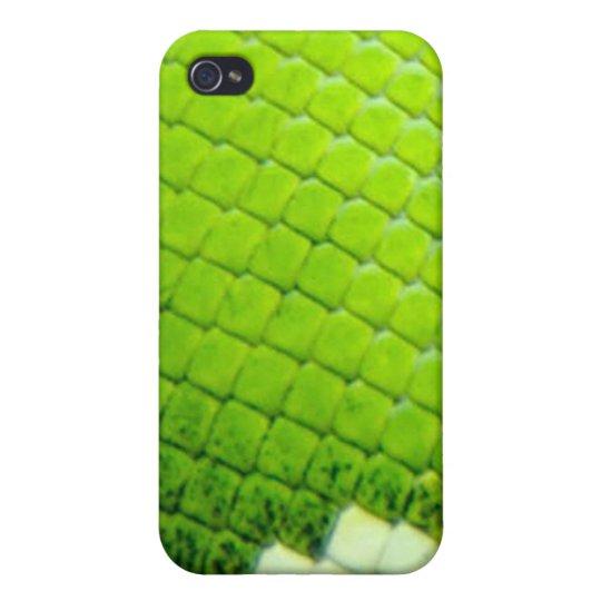 caso del iPhone 4 - boa verde SnakeSkin iPhone 4 Carcasa