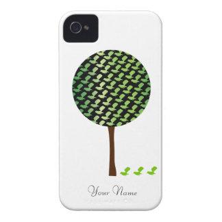 caso del iPhone 4 con diseño elegante del árbol y  iPhone 4 Coberturas