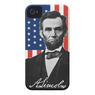 Caso del iPhone 4 de Abraham Lincoln iPhone 4 Protectores
