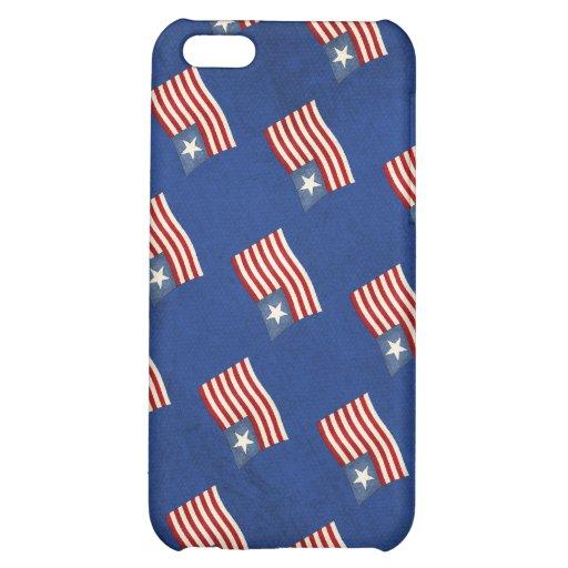 Caso del iPhone 4 de Apple de la bandera americana