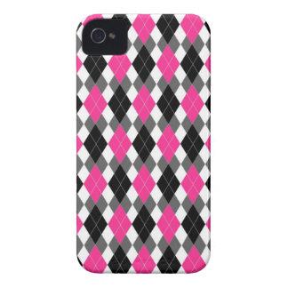 Caso del iPhone 4 de Argyle de las rosas fuertes y Case-Mate iPhone 4 Cárcasas