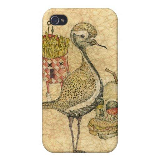 Caso del iPhone 4 de Chicken'n'fries iPhone 4 Funda