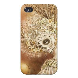 Caso del iPhone 4 de Dia de los Muertos iPhone 4 Fundas