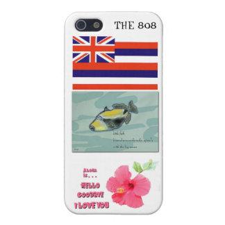 CASO del iPhone 4 de Hawaii 808 con los iconos del iPhone 5 Fundas