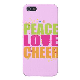 Caso del iPhone 4 de la alegría del amor de la paz iPhone 5 Carcasas