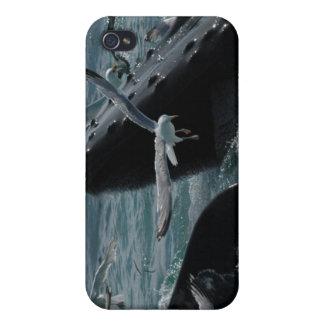 Caso del iPhone 4 de la ballena jorobada iPhone 4 Cárcasa