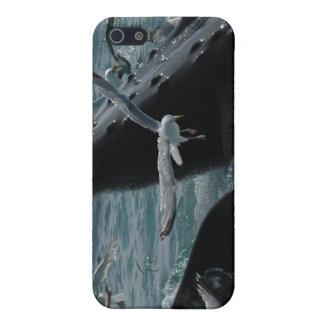 Caso del iPhone 4 de la ballena jorobada iPhone 5 Protectores