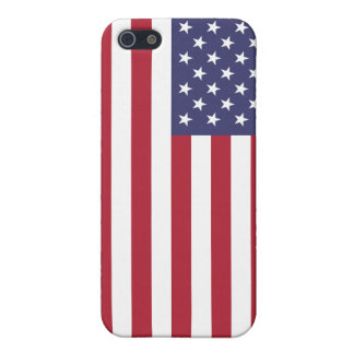 Caso del iPhone 4 de la bandera americana iPhone 5 Protectores