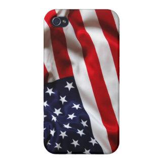 Caso del iphone 4 de la bandera americana iPhone 4/4S carcasas