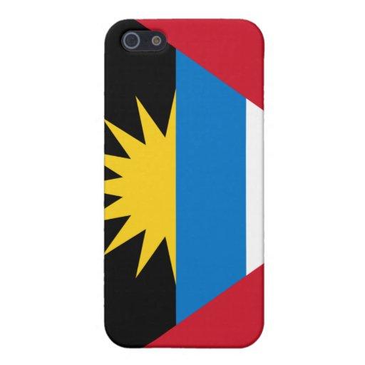 Caso del iPhone 4 de la bandera de Antigua y de Ba iPhone 5 Carcasa