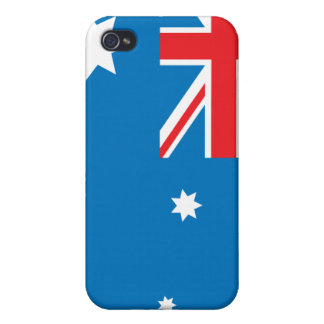 Caso del iphone 4 de la bandera de Australia iPhone 4 Fundas