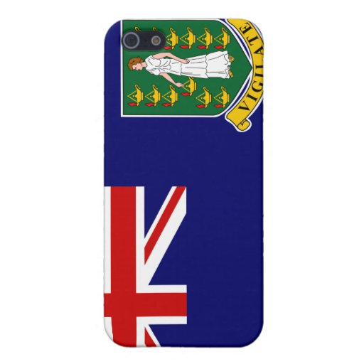 Caso del iPhone 4 de la bandera de British Virgin  iPhone 5 Coberturas