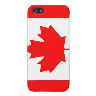 Caso del iPhone 4 de la bandera de Canadá iPhone 5 Carcasas