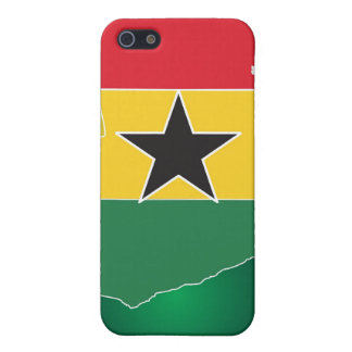 Caso del iPhone 4 de la BANDERA de GHANA iPhone 5 Carcasas