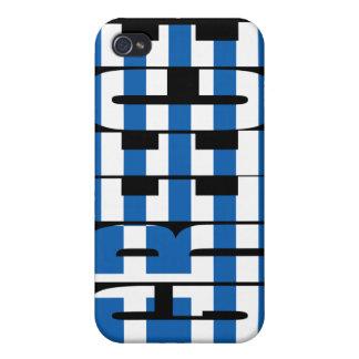 Caso del iPhone 4 de la bandera de Grecia iPhone 4 Fundas