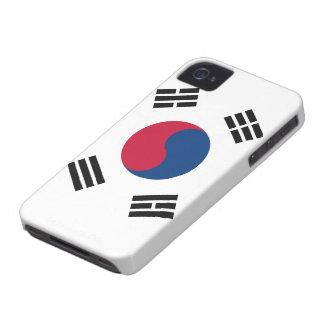 Caso del iphone 4 de la bandera de la Corea del Su