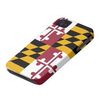 Caso del iPhone 4 de la bandera de Maryland iPhone 4 Case-Mate Protectores