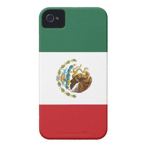 Caso del iPhone 4 de la bandera de México iPhone 4 Case-Mate Protectores
