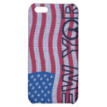 Caso del iPhone 4 de la bandera de Nueva York los