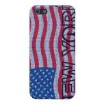 Caso del iPhone 4 de la bandera de Nueva York los  iPhone 5 Carcasa