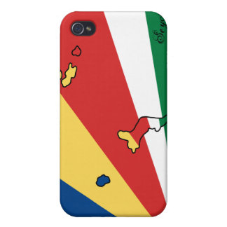 Caso del iPhone 4 de la bandera de Seychelles iPhone 4 Protector