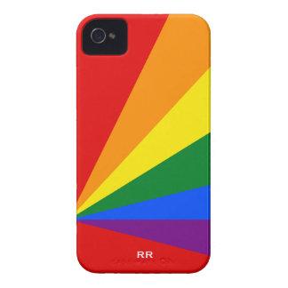 Caso del iPhone 4 de la bandera del arco iris del iPhone 4 Case-Mate Cárcasas