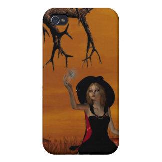 Caso del iPhone 4 de la bruja de Halloween iPhone 4 Cobertura
