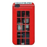 Caso del iPhone 4 de la cabina de teléfono de Lond iPhone 4 Cárcasa