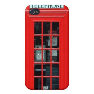Caso del iPhone 4 de la cabina de teléfono de Lond iPhone 4/4S Fundas